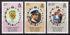 PITCAIRN ISLAND 1981 ROYAL WEDDING SET OF ALL 3 COMMEMORATIVE STAMPS MNH