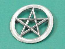 Large Pentagram English Pewter brooch , Pagan, Wicca, Gothic. Protection