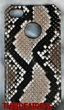 100% GENUINE PYTHON SNAKE SKIN LEATHER HARD CASE COVER IPHONE 4/4S