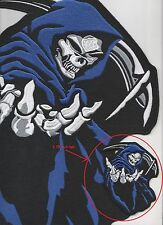 """VERY FINE 100% EMBROIDERED REAPER 4"""" FOR BIKER LEATHER JACKET SHOULDER OR CHEST"""