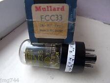 Ecc33 MULLARD giallo stampa nero base vetro fumo nn. VALVOLA TUBE A13-2