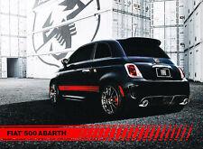 2013 Fiat 500 Abarth Brochure Card