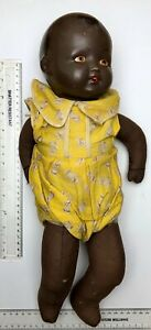 1930's Pottery / Composite BLACK Child's Baby Doll - rare as hens' teeth!!