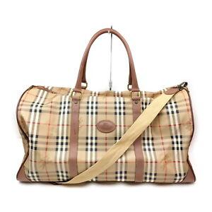 Burberrys Boston Bag  Beiges PVC 1607969
