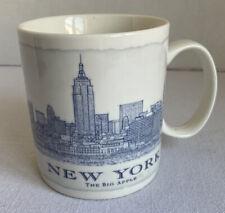 2007 Starbucks Mug Blue White New York Big Apple. The Architecture Series 18 Oz