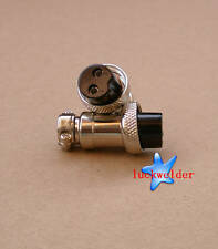 2PINS Air Connector for Plasma TIG welding torch Female Metal Self Locking 2pcs