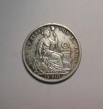 PERU ½ SOL PLATA 1907
