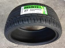 NEW (pair) 275 30 20 DELINTE Thunder D7 series ultra high performance tires x2