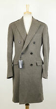 New. RALPH LAUREN BLACK LABEL Gray Wool Blend Double Breasted Coat 54/44 R $2195