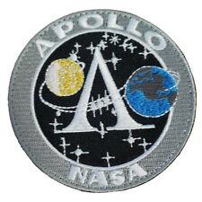 NASA Apollo Space Mission Earth Moon Embroidered Hook and Loop Patch
