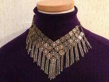 NWT Chelsea NYC costume jewelry necklace Antique Look Choker Free US Shipping