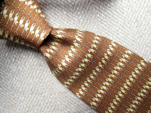 Banana Republic Brown Animal Print Silk Tie Made in Italy A7706