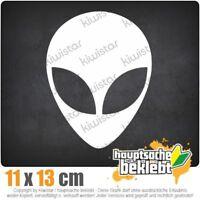 Alien 11 x 14 cm JDM Decal Sticker Aufkleber Racing Weiß, Scheibenaufkleber