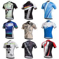 Men's Bike Bicycle Jersey Tops Short Sleeve Biking Cycling Shirts Jersey S-5XL