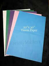 100 Sheets of 20x30 Tissue Paper 20 each of 5 Colors ~ Expedited Shipping