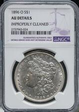 1896-O $1 Morgan Silver Dollar NGC AU Details Nice Luster, Strike Free S/H #340