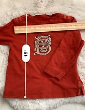 Boys Burberry Long Sleeve T-Shirt Size 6Y