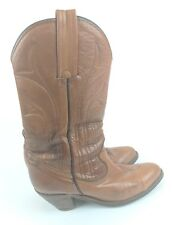 Frye Women's Size 7 1/2 7.5 Brown Leather Cowboy Cowgirl Western Boots Vintage