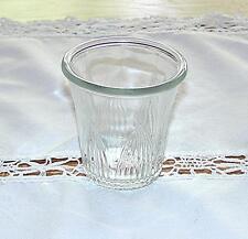 VINTAGE RARE RIBBED LEAF DESIGN CLEAR DEPRESSION GLASS 4 OZ. DRINKING GLASS