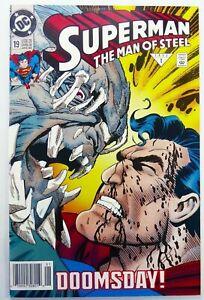 DC SUPERMAN MAN OF STEEL (1993) #19 Doomsday App Newsstand FN Ships FREE!