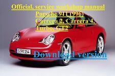 OFFICIAL, SERVICE WORKSHOP MANUAL PORSCHE 911 (996) Carrera 2 & 4, Turbo, GT2