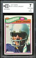 1977 Topps #177 Steve Largent Rookie Card BGS BCCG 7 Very Good+