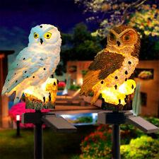 Waterproof Owl Solar Powered Garden Light LED Outdoor Ornament Lawn Novelty Lamp