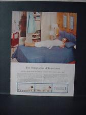 1959 Simmons Beautyrest Mattress Woman Beauty Sleep Vintage Print Ad 10704
