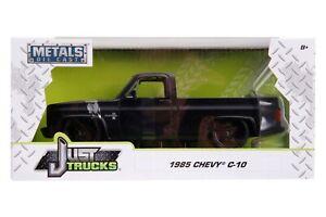 JADA 31604 JUST TRUCKS 1985 CHEVY C-10 PICKUP TRUCK MATTE BLACK 1:24 NIB  #31