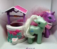 2006 My Little Pony MLP Hasbro Lily Lightly G3 Unicorn Bundle Wishing Well BX1