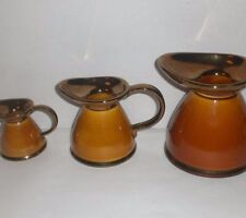 LORD NELSON POTTERY ENGLAND Vintage Set Water Pitcher Lot Brown Milk Creamer