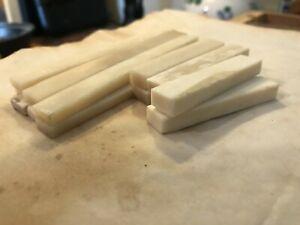 Unbleached Bone Nut Saddle Bridge Blank Guitar Mandolin Ukulele Bass