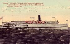 """STEAMER """"SOUTHLAND"""", NORFOLK and WASHINGTON STEAMBOAT CO."""