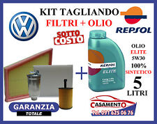 KIT TAGLIANDO OLIO MOTORE REPSOL ELITE 5W30 5LT + FILTRI VW POLO IV 1.9 TDI SDI