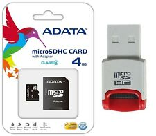 ADATA MicroSDHC 4GB Class 4 Memory Card for Samsung Galaxy Note 4 Tab 4s Tablet