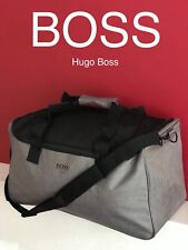 edf1d42bcc3e HUGO BOSS New   Sealed Mens Grey Bag Gym Holdall Work Weekend Sports Man Bag