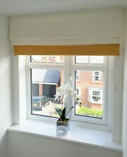Parisian Ice White and Yellow Thermal Roman Blind (Outside Recess)