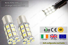 2x LED Ba15s P21W 1156 HID White Strobe Flash Police Fog Bulbs Lamps Rear Lights