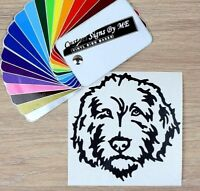Labradoodle Dog Sticker Vinyl Decal Adhesive For Car Window Wall Laptop Black