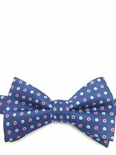 $115 COUNTESS MARA Men RED BLUE WHITE POLKA DOT BOW TIE CASUAL ADJUSTABLE BOWTIE