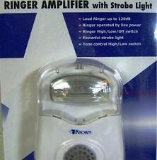 Loud Telephone Ringer, Very Bright Strobe Light Flasher Phone Ring Signaler