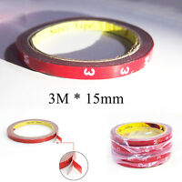 1x 3M Double Face Sided Tape 15mm 3 Meters for Automotive Usage Dashboard Door