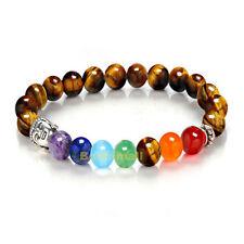 Tiger Eye 7 Chakra Healing Balance Beads Reiki Prayer Yoga Bracelet