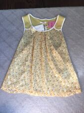 Tulle Brand Yellow Sheer Tank Top Shirt Bouse Sleeveless Nordstrom Blush Size XS