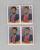 2 x football sticker Neymar JR Kylian Mbappe PSG FIFA 365 2021 Panini #307
