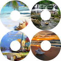 Natural Sounds 4 CD Set Relaxation Deep Sleep Stress & Anxiety Relief Healing
