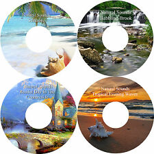 Natural Sounds 4 CD Set Relaxation Sleep Aid Stress Anxiety Relief Heal Calming