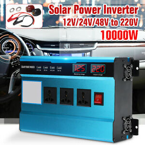 10000w 12V/24V/48V to 220V Solar Power Inverter Vehicle Converter 4 US