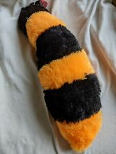 Racoon Tail Rain Orange and Black Plush Furry Costume Cosplay Accessory 18 in.