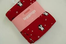 Gymboree Holiday Penguin Chalet Girls Size 6-12 M Red Snowflake Leggings NWT